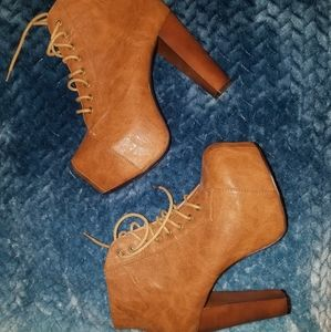 Lita inspired lace up platform boots